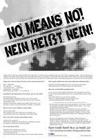 No means No! Nein heißt Nein!